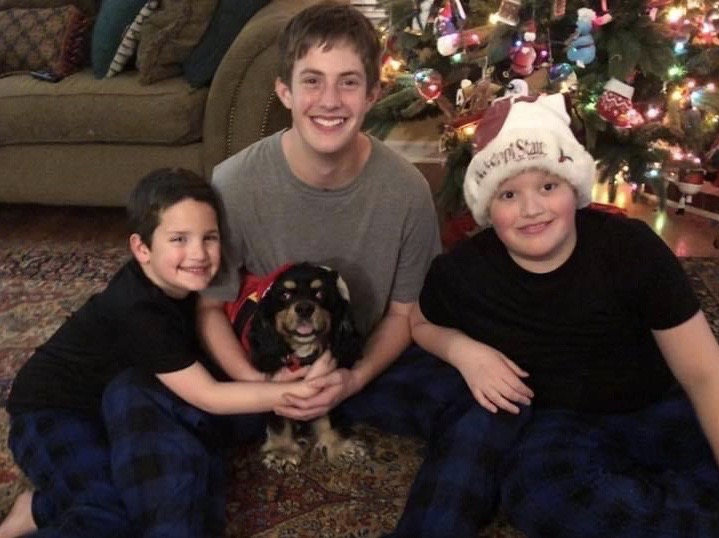 Will Comstock's kids and dog