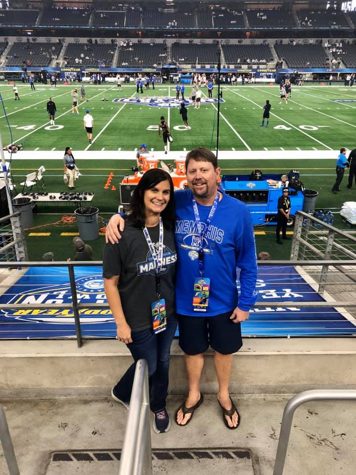 Kelly Ogden with his wife