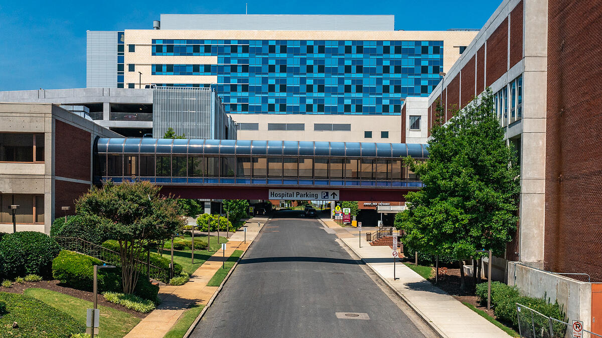 methodist university hospital downtown well maintained trees and shrubs