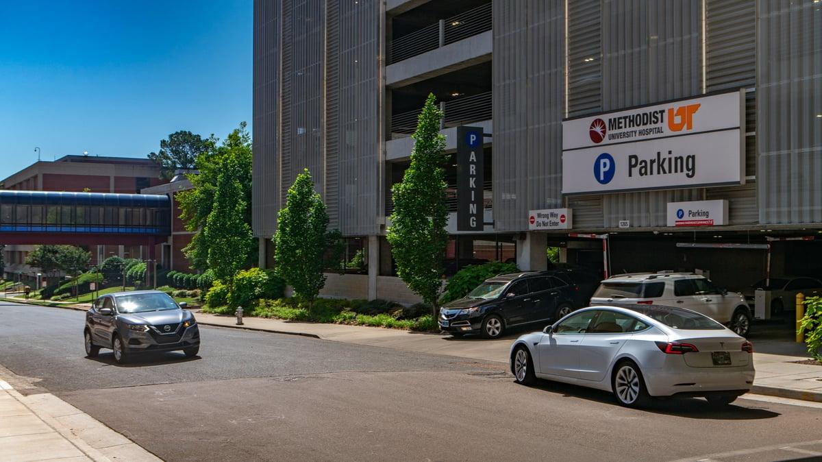 Landscaping at Methodist University Hospital in Memphis