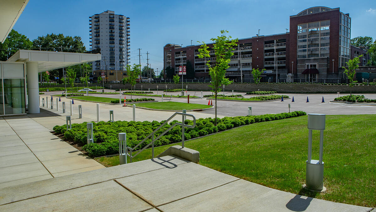 Methodist University Hospital well maintained lawn and landscape beds