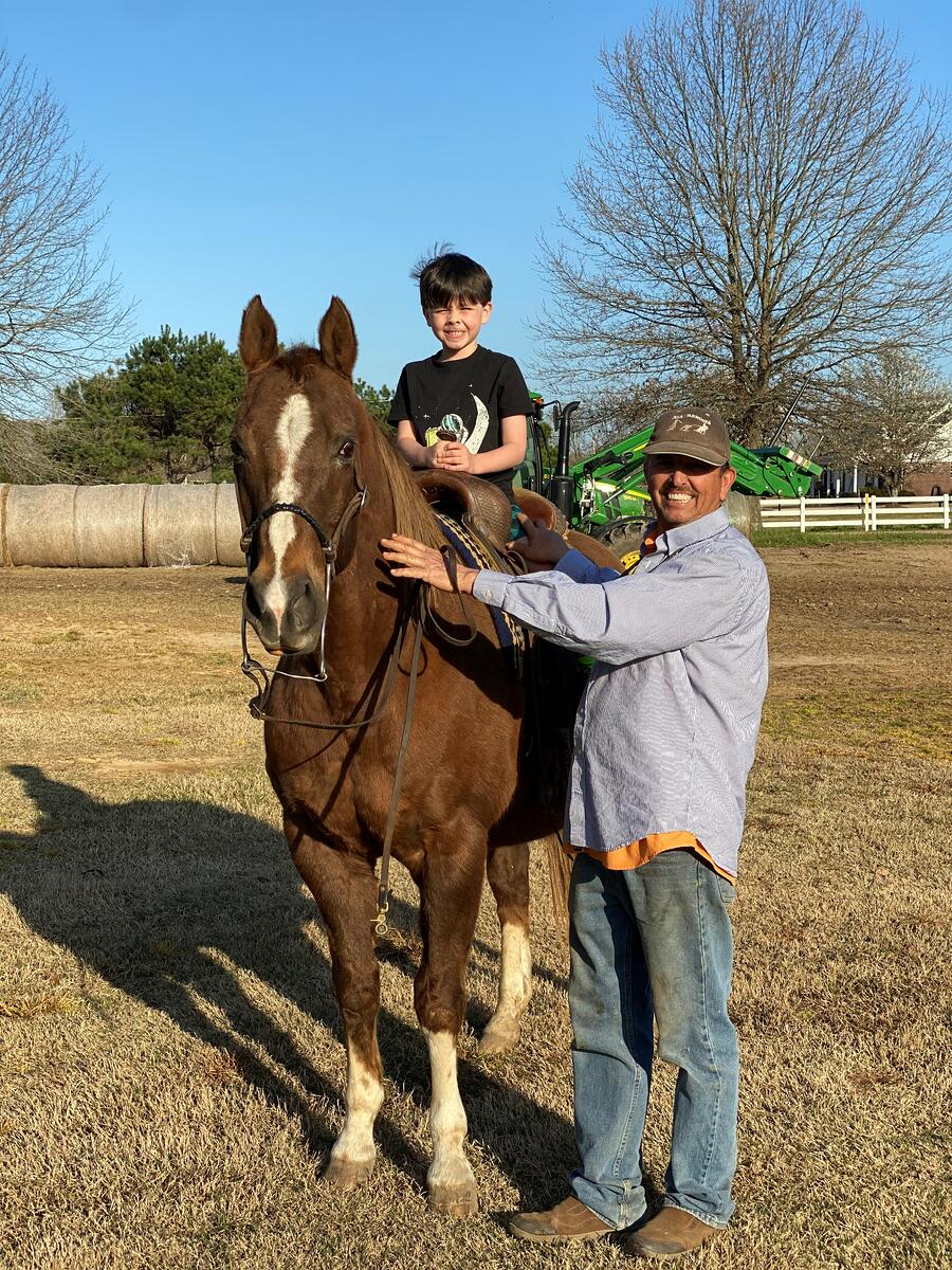 Tommy Neergaard working with horses