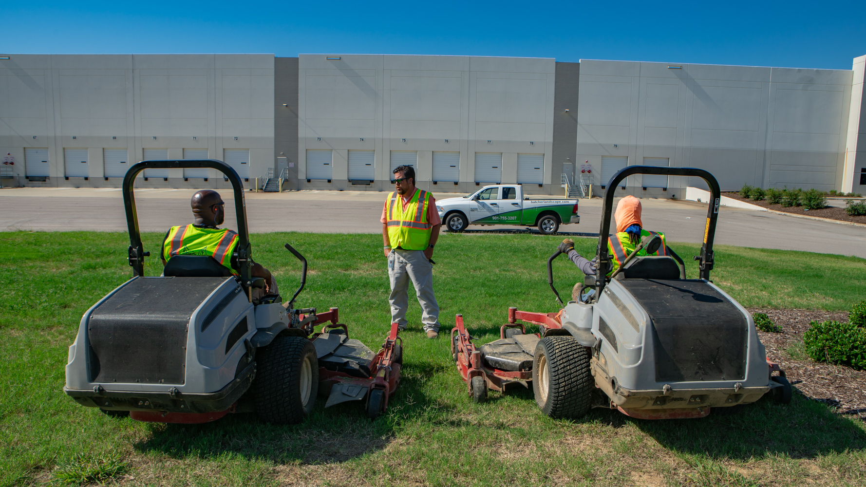 Warehouse, fulfillment centers and industrial property mowing