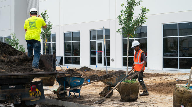Commercial irrigation installation construction planting 7-1