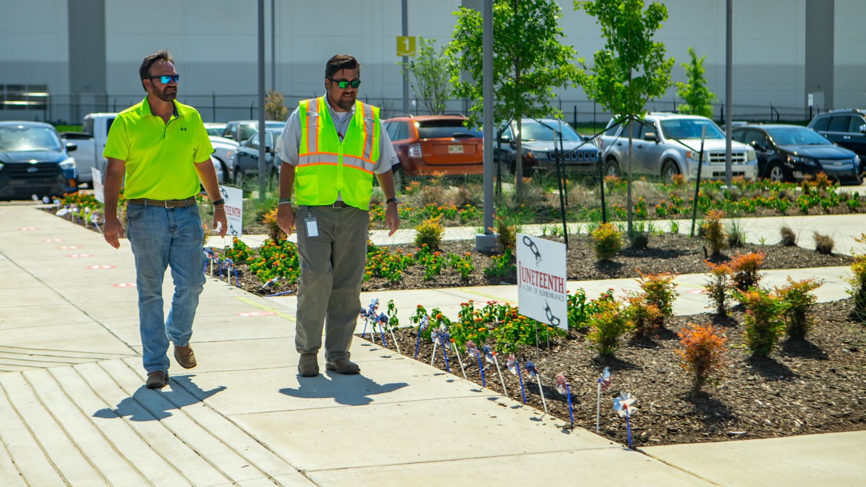 Commercial landscaping Account Manager and Company Manager inspection Amazon warehouse 8