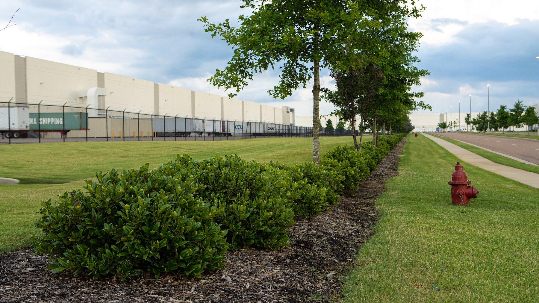 Legacy Park lawn maintained by Hatcher Landscape