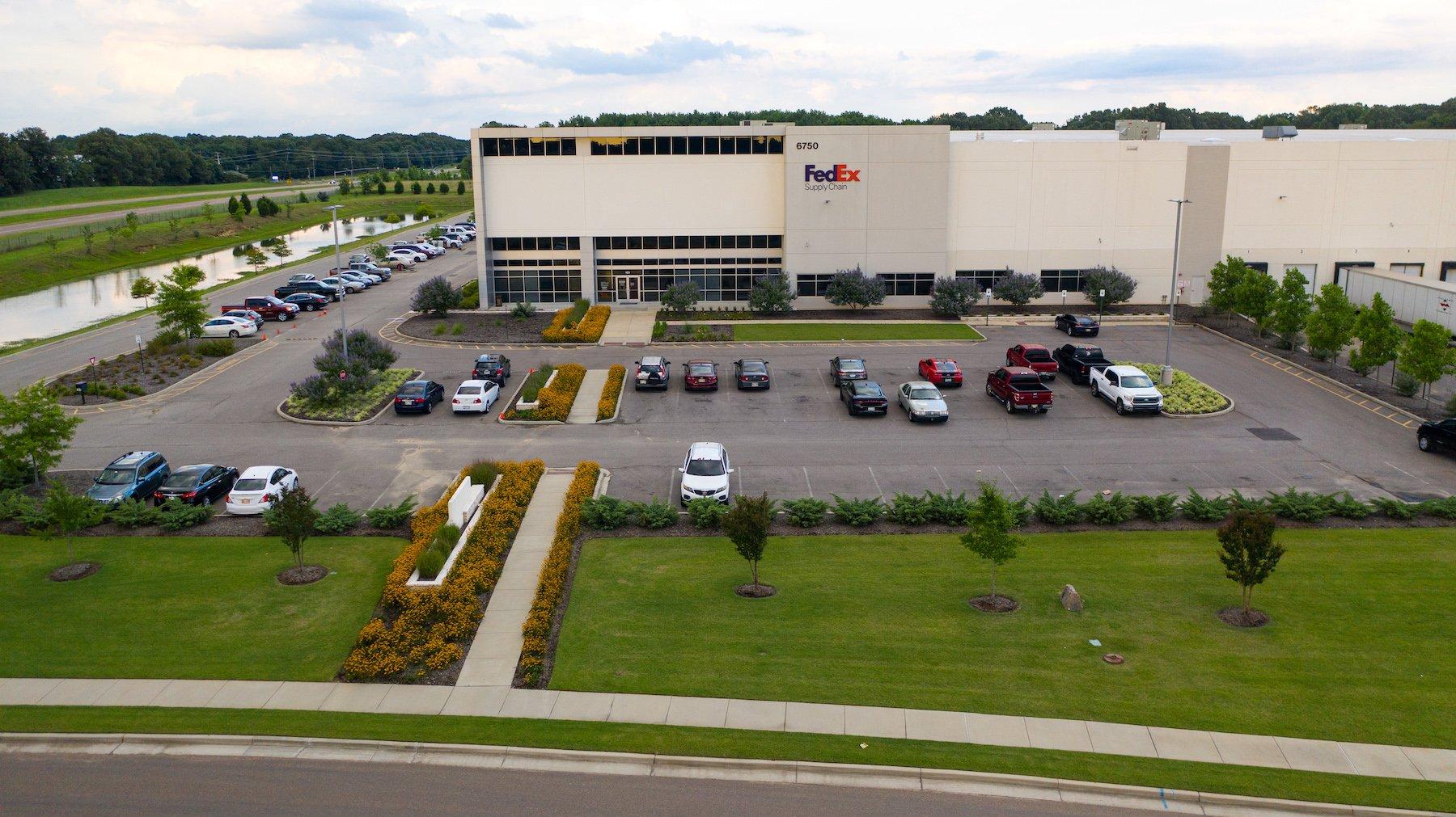 FedEx Warehouse mowing site