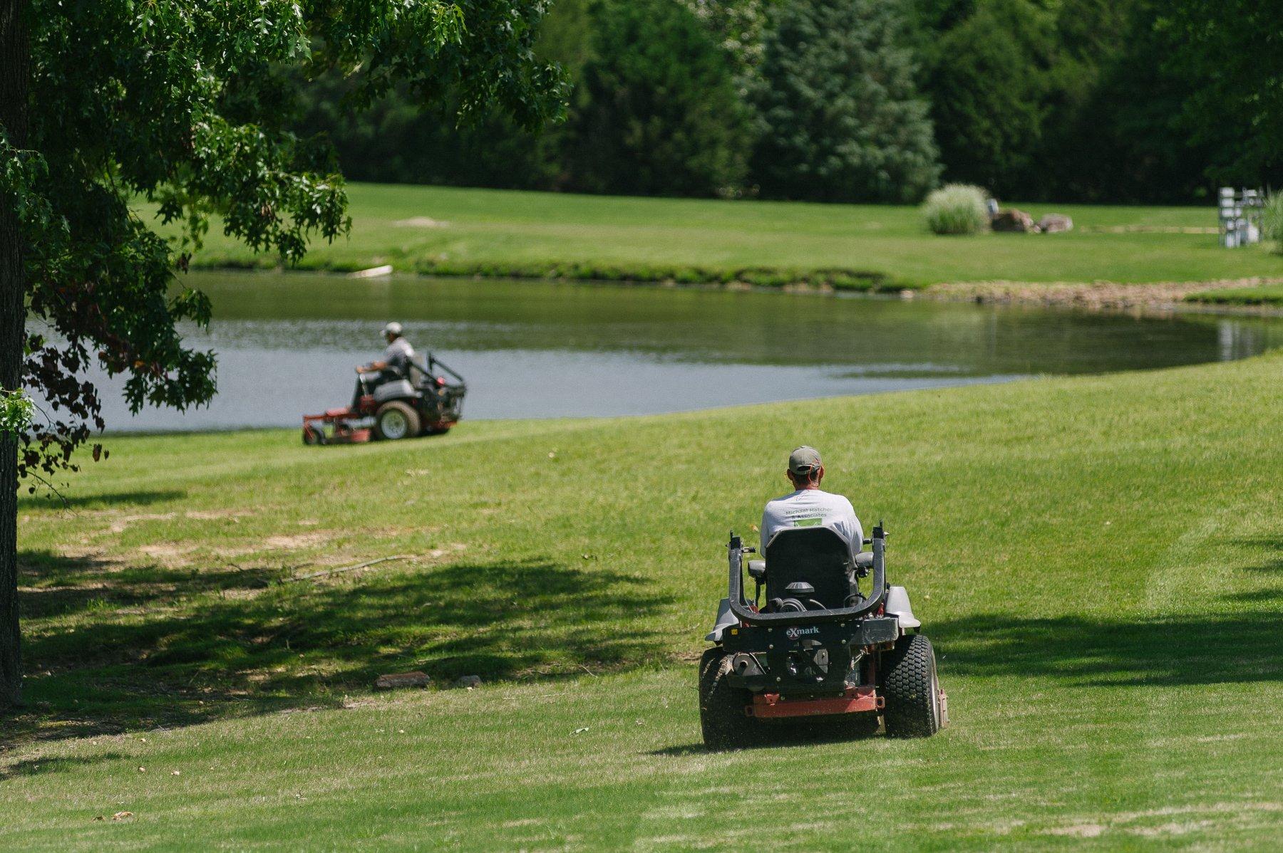 Commercial landscape mowing services