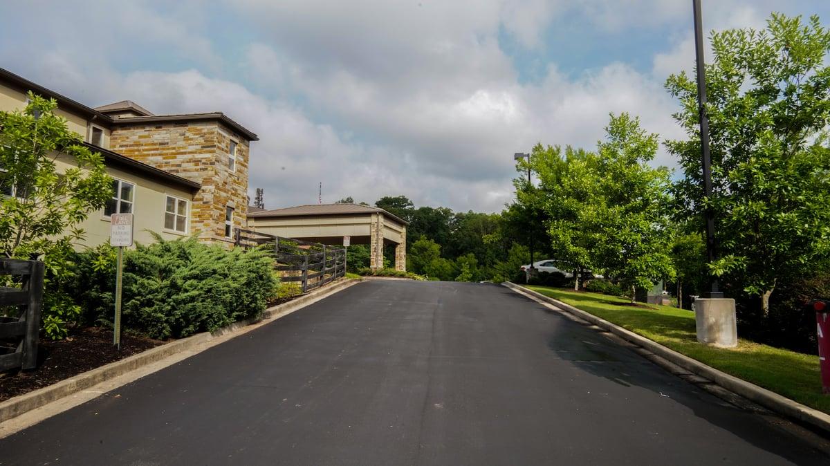 Entranceway at a senior living facility