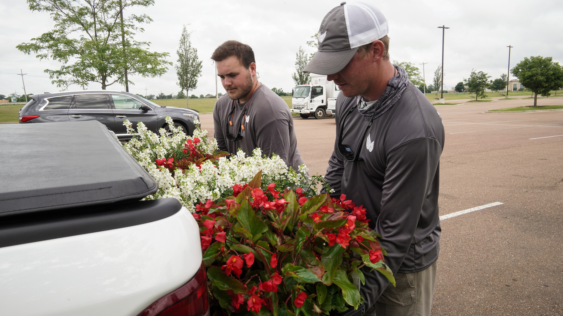 Tanger Outlets annual planting