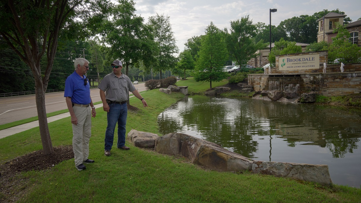 Senior living community landscape design professional