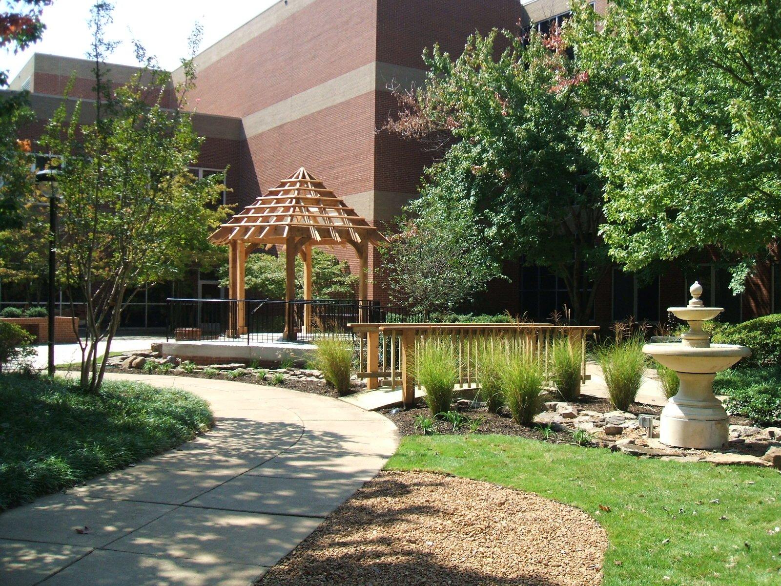 Healing garden at medical facility