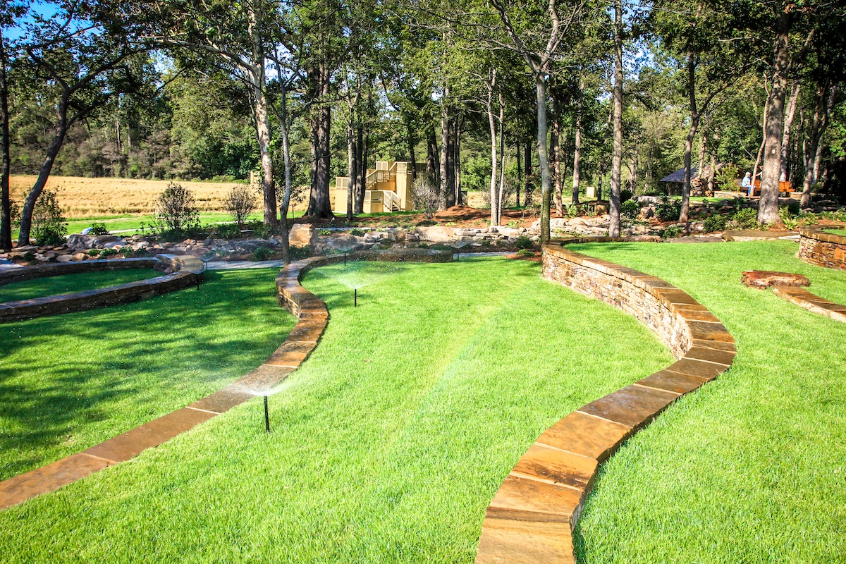 irrigation system on commercial property