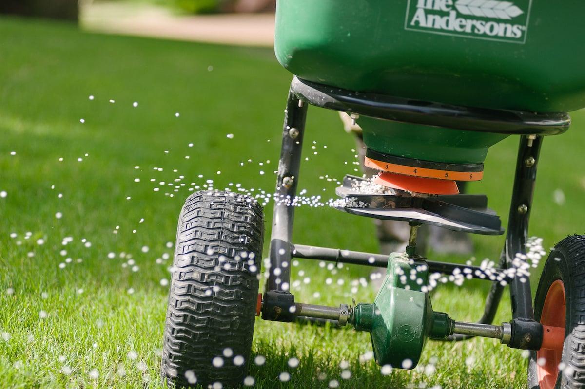 granular fertilizer application