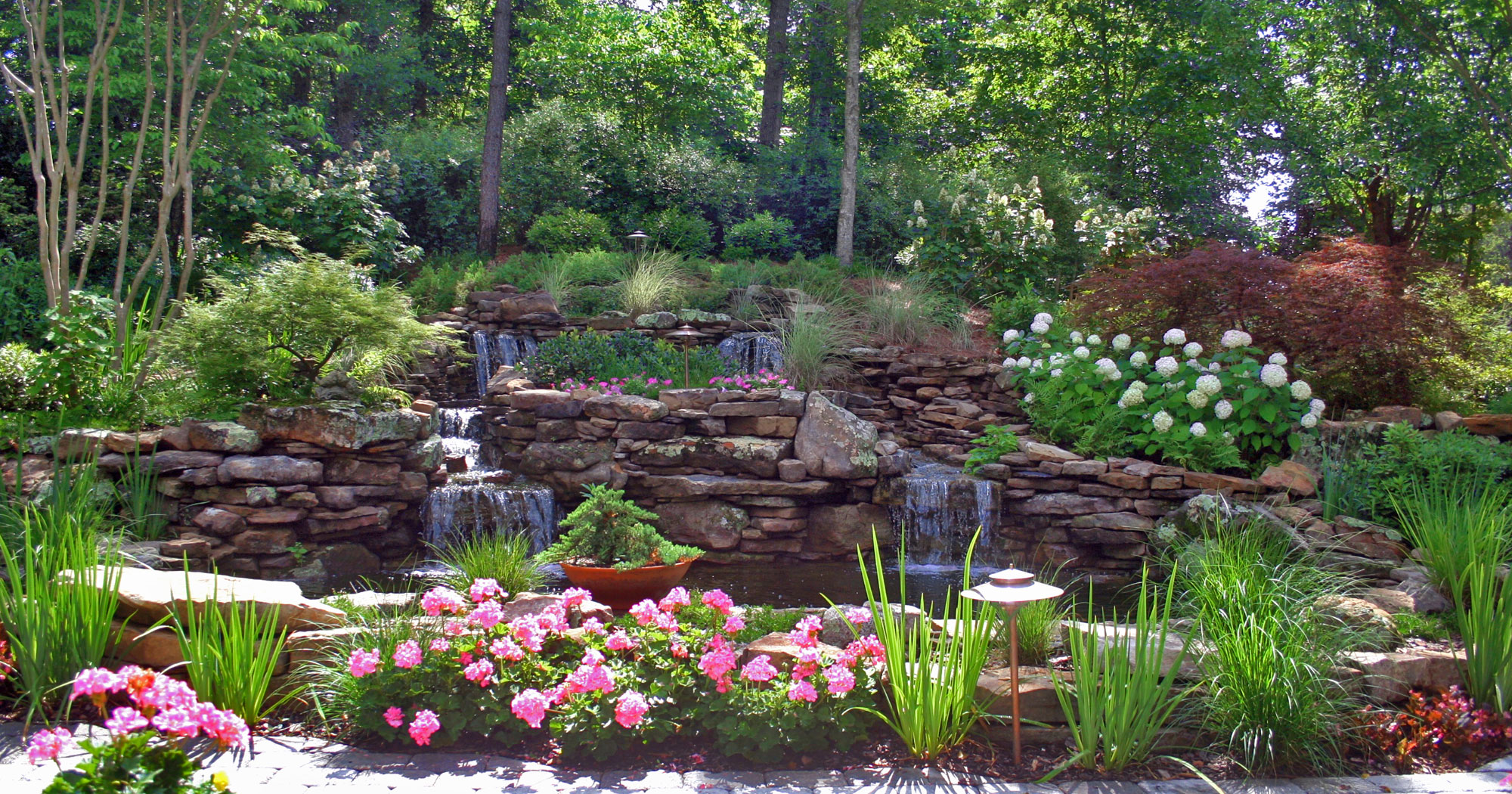 Water garden michael hatcher associates for Professional landscape