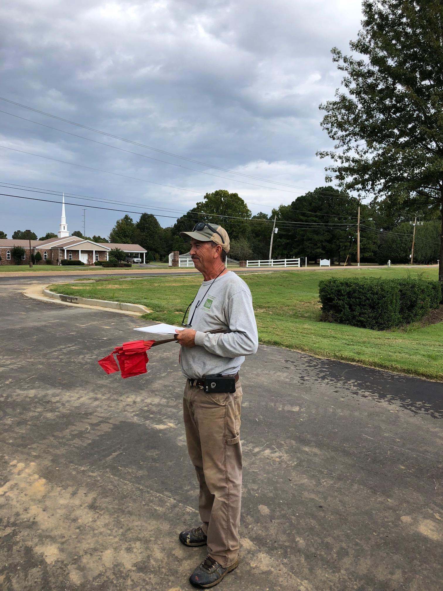 Tommy Neergaard working on irrigation